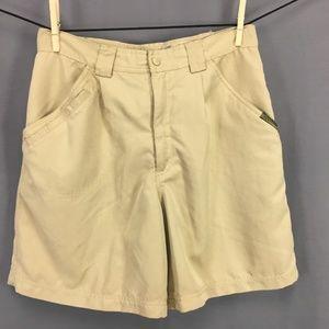 Royal Robbins Walking Shorts Size 8 Khaki Tan